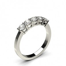4 Prong Setting Plain Five Stone Ring (Available from 0.30ct. to 2.05ct.)