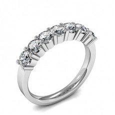 4 Prong Setting Plain Seven Stone Ring (Available from 0.25ct. to 1.75ct.)